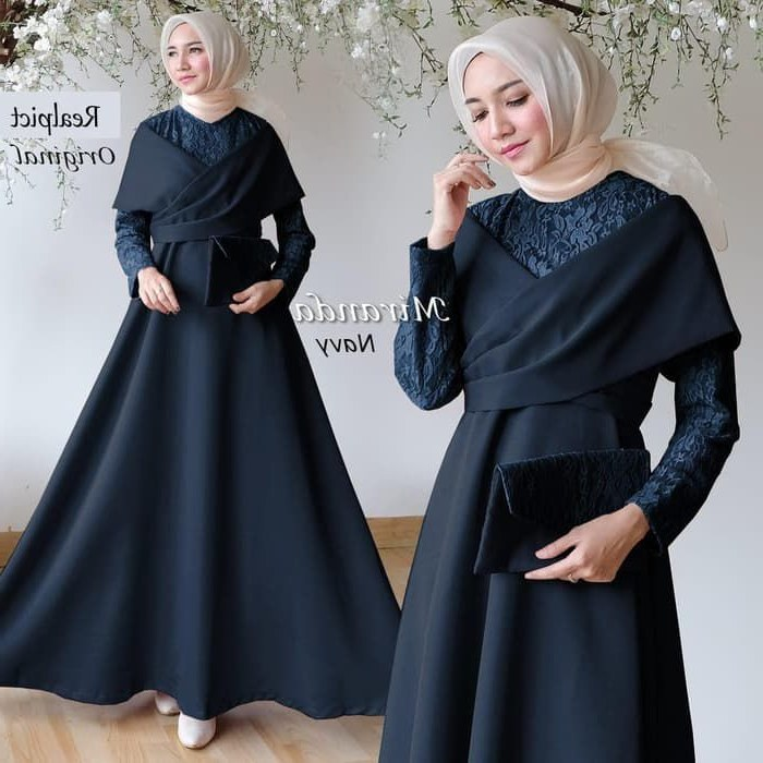 Model Baju Lebaran Brokat 2019 0gdr Gamis Pesta Brokat Kombinasi Terbaru Miranda 2019