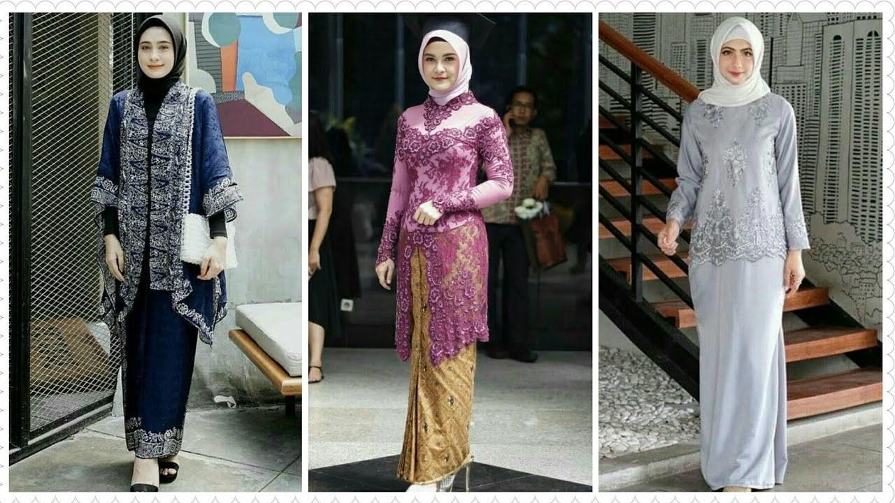 Model Baju Lebaran Brokat 2019 Ipdd 22 Model Baju Kebaya Brokat Dengan Setelan Hijab Terbaru