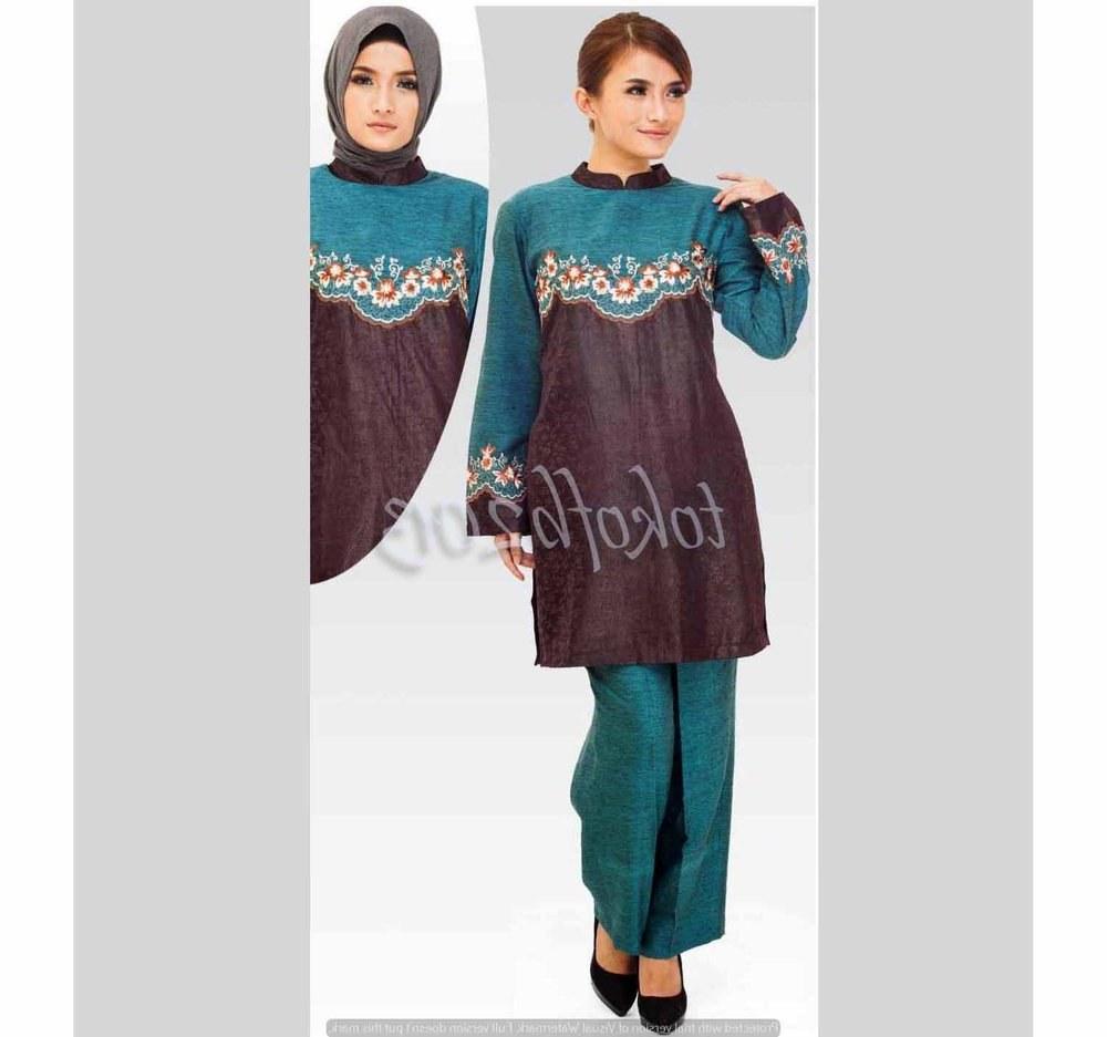 Model Baju Lebaran Celana 9fdy Jual Beli Tunik Sp 103 10 Setelan Tunik Gamis