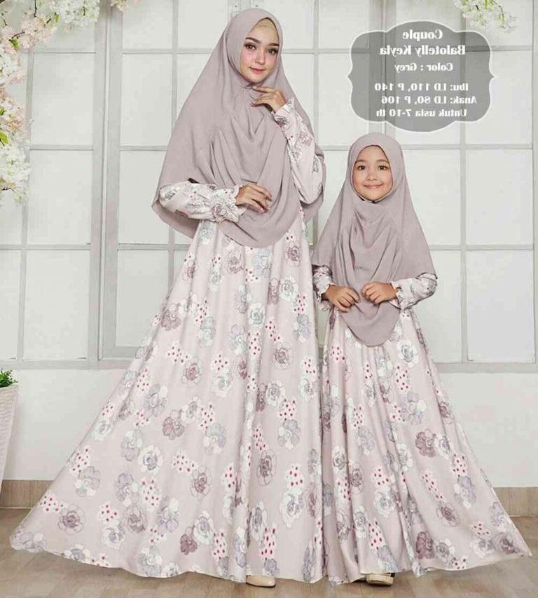 Model Baju Lebaran Ibu Dan Anak Perempuan 0gdr Gamis Terbaru Couple Lebaran Ibu Anak Keyla Gamisalya