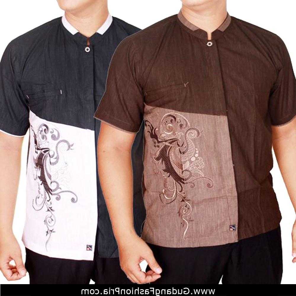 Model Baju Lebaran Jaman Sekarang 2018 T8dj Busana Muslim Pria Baju Koko Lengan Pendek Baju Lebaran