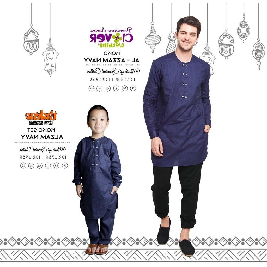 Model Baju Lebaran Laki J7do Baju Muslim Koko Lebaran Couple Ayah Dan Anak Laki Laki