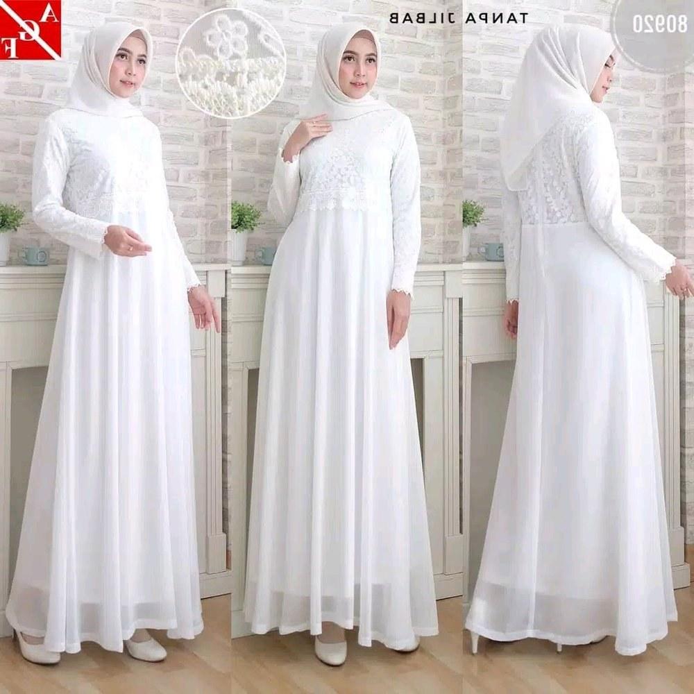 Model Baju Lebaran Mewah Drdp Jual Baju Gamis Putih Haji Umroh Maxi Gamis Pesta