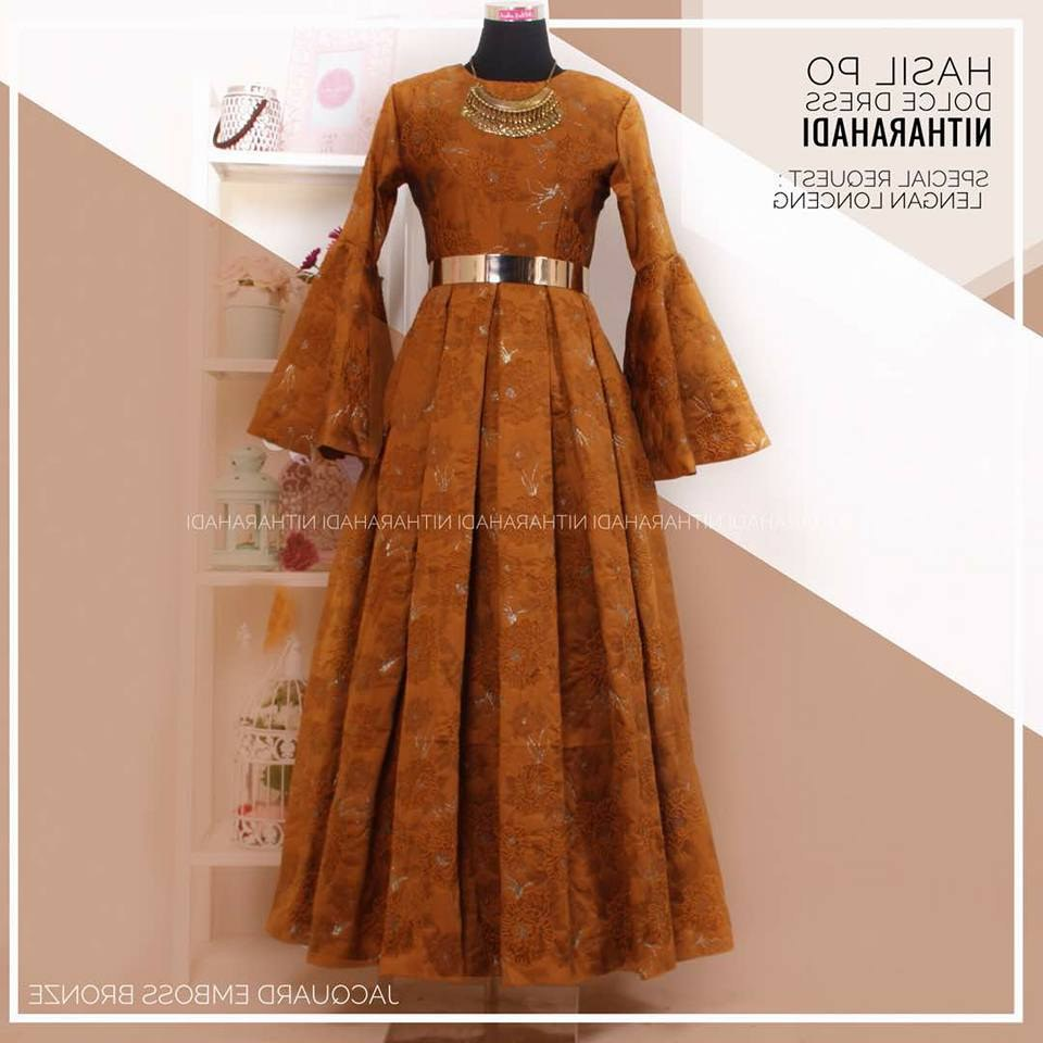 Model Baju Lebaran Mewah Y7du Dolce Dress Jacquard Emboss Made by order