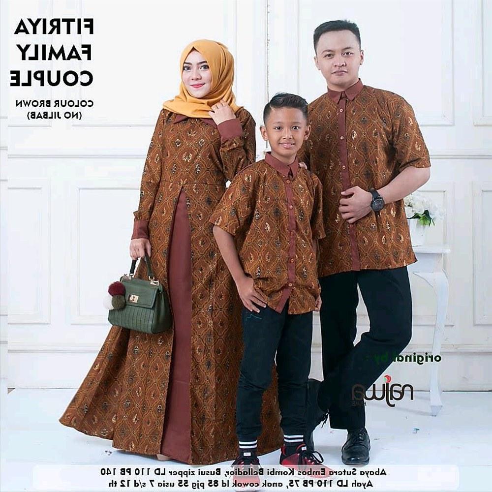 Model Baju Lebaran Pasangan Bqdd 30 Model Gamis Couple Ayah Ibu Anak Fashion Modern Dan