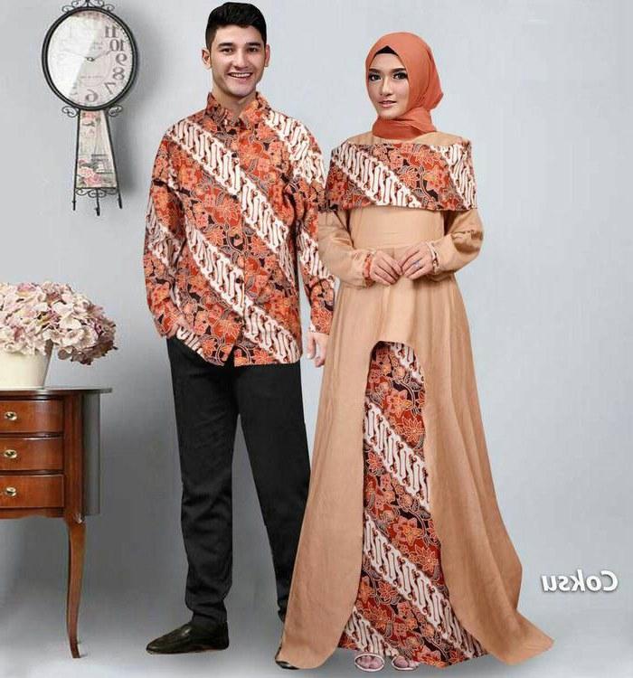 Model Baju Lebaran Pasangan D0dg Baju Gamis Couple Pasangan Batik Lebaran Sabna Gamisalya