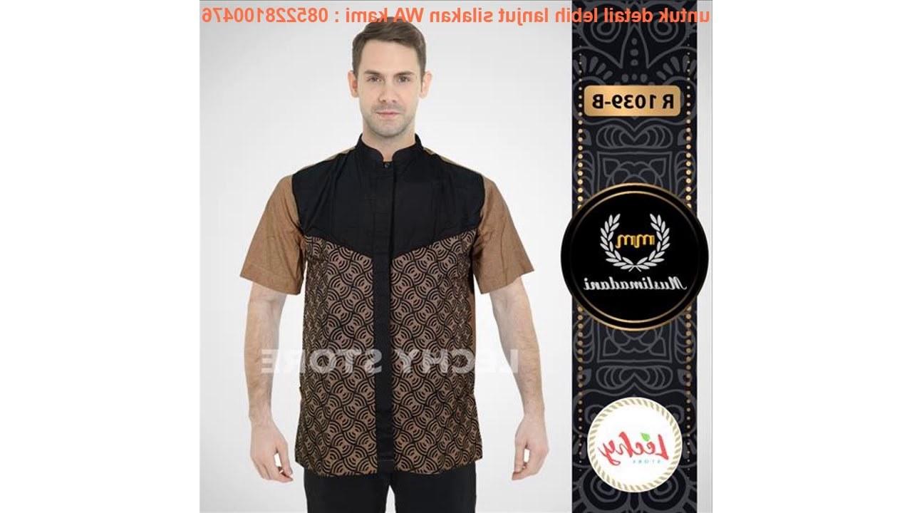 Model Baju Lebaran Pria 2019 Ftd8 Exlusive Baju Pria Kemeja Koko Ramadan Lebaran Muslim