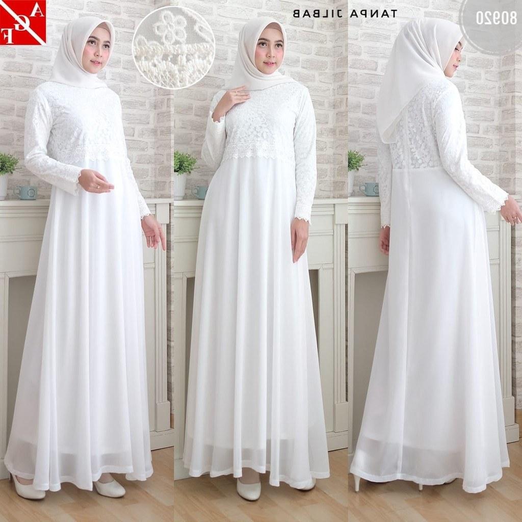 Model Baju Lebaran Putih E6d5 Sale Baju Gamis Wanita Brukat Gamis Putih Lebaran