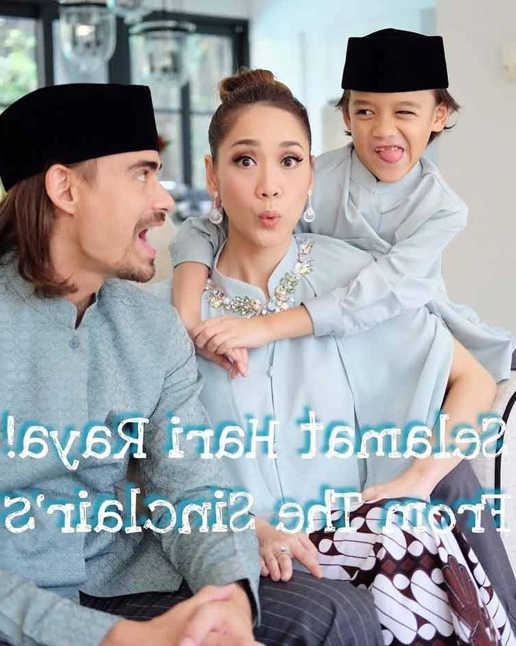 Model Baju Lebaran Putih Ipdd 15 Baju Lebaran Keluarga Artis Terkenal Di Indonesia