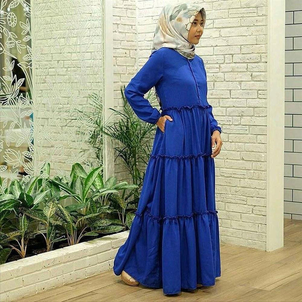 Model Baju Lebaran Simple H9d9 Jual Baju Syar I Hijab Panjang Polos Simple atasan Blouse