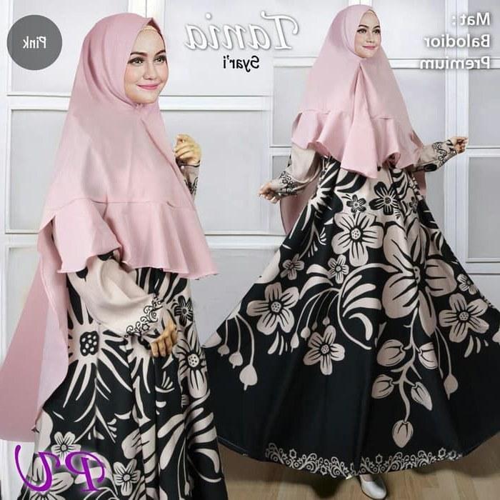 Model Baju Lebaran Syari 2019 3ldq Baju Syar I Terbaru 2019 Tania Gamisalya