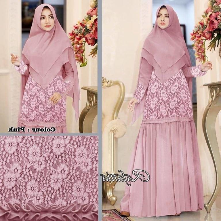 Model Baju Lebaran Syari 2019 Nkde Baju Gamis Muslimah Brokat Modern 2019 Lebaran Rafania