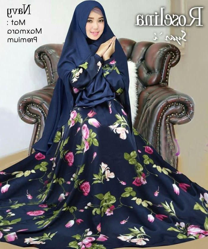 Model Baju Lebaran Syari 2019 Tqd3 Baju Gamis Syar I Trend 2019 Roselina Gamisalya