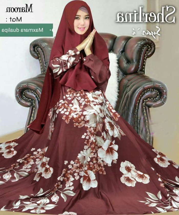 Model Baju Lebaran Syari 2019 U3dh Gamis Syar I Motif Terbaru 2019 Sherlina Gamisalya