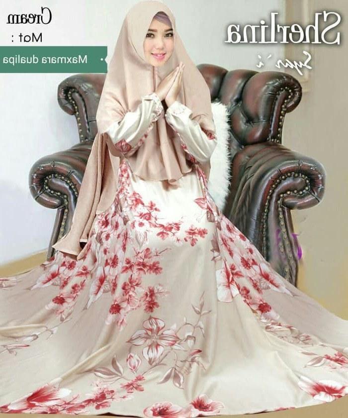 Model Baju Lebaran Syari 2019 Whdr Gamis Syar I Motif Terbaru 2019 Sherlina Gamisalya