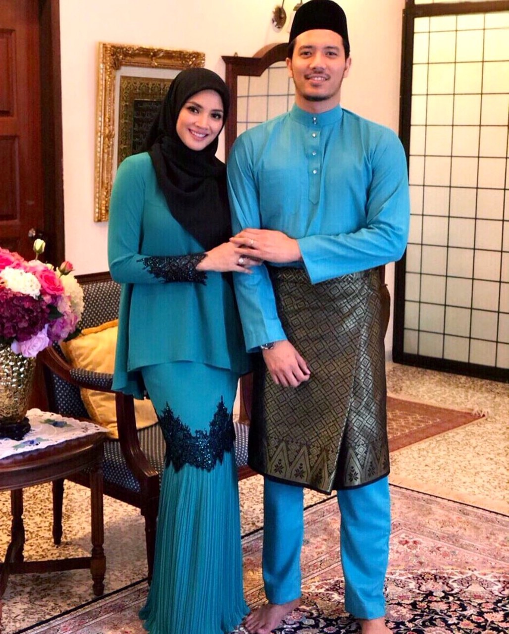 Model Baju Lebaran Tahun 2019 J7do Ide Populer 38 Baju Raya Artis 2019