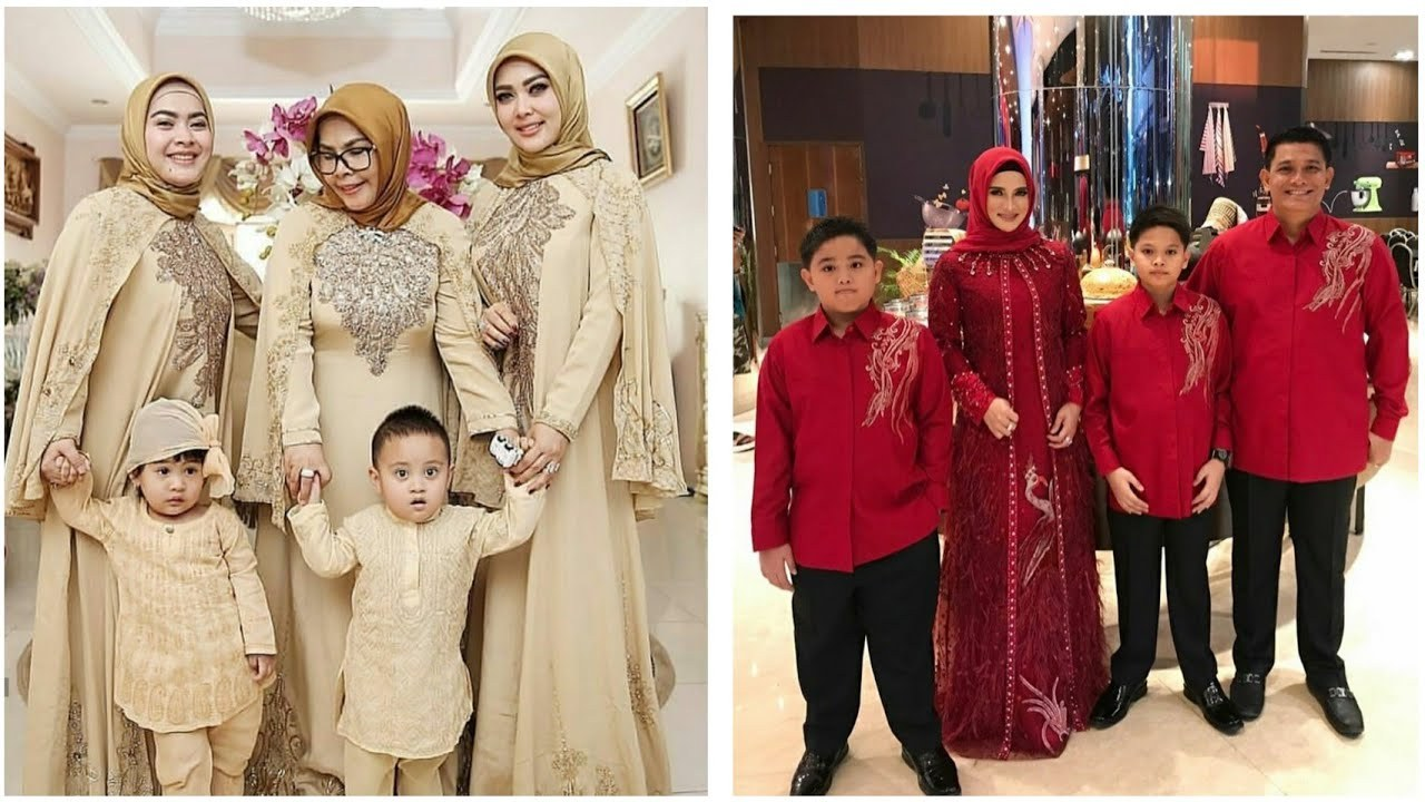 Model Baju Lebaran Tahun 2020 Etdg Model Baju Sarimbit Keluarga Modern Dan Terbaru Cocok Buat