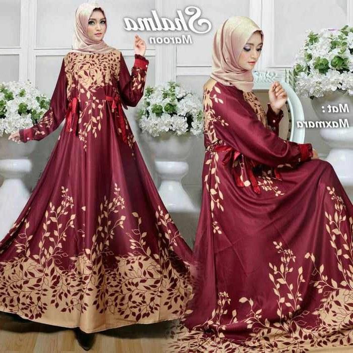 Model Baju Lebaran Tanah Abang 2018 3id6 Model Baju Lebaran 2018 Shalma Marun Model Baju Gamis