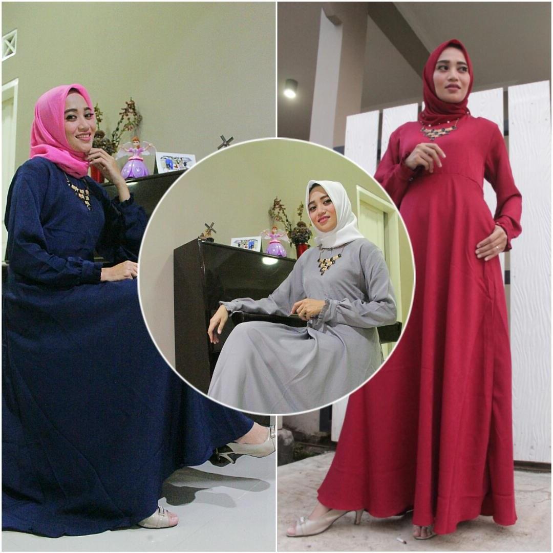 Model Baju Lebaran Tanah Abang 2018 Irdz Baju Gamis Tanpa Khimar Bahan Wollycrepe Premium Gn1689