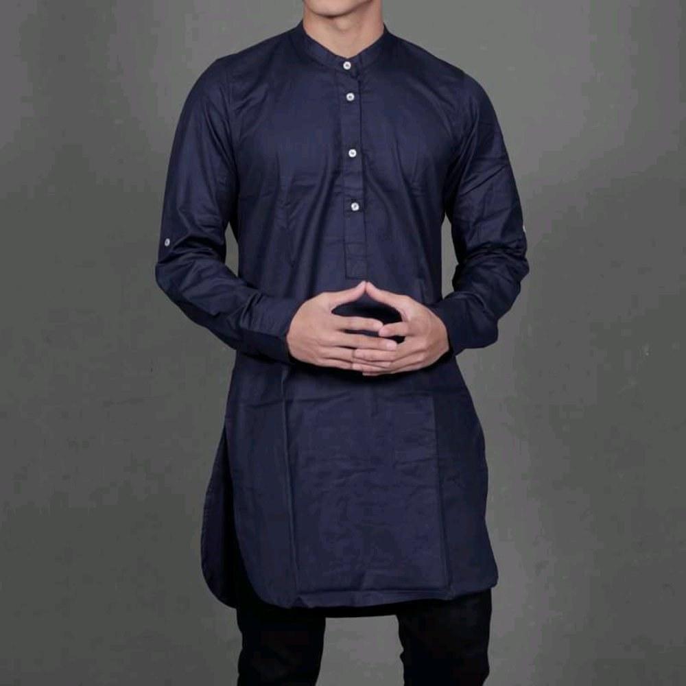 Model Baju Lebaran Terbaru 2019 Pria Rldj Pakaian Muslim Pria Yang Sedang Trend Di 2019