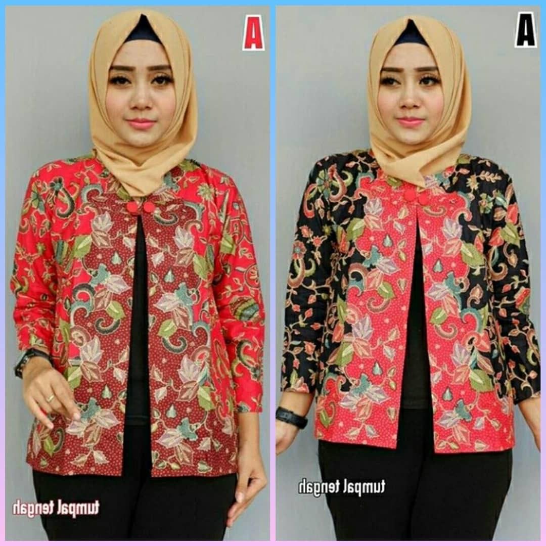 Model Baju Lebaran Terbaru 2019 Wanita H9d9 48 Model Baju Batik atasan Wanita Terbaru 2019 Model