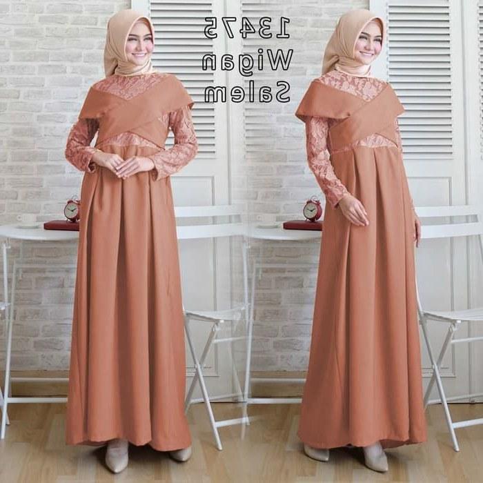 Model Baju Lebaran Trend 2019 Zwdg Baju Gamis Pesta Muslim 2019 Wigan Gamisalya