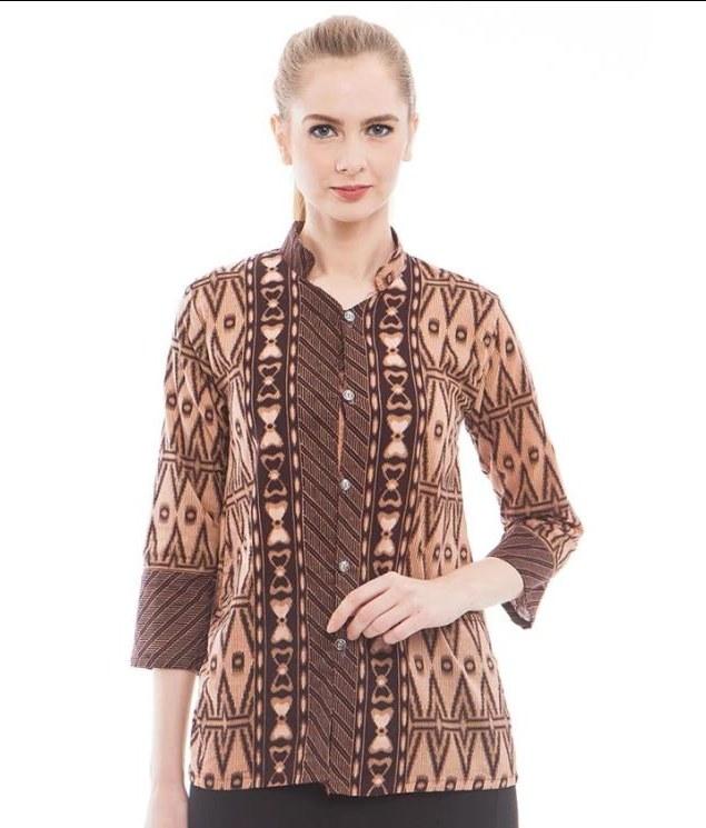 Model Baju Lebaran Untuk orang Gemuk Qwdq 52 Model Baju Batik Kantor Untuk orang Gemuk & Motif