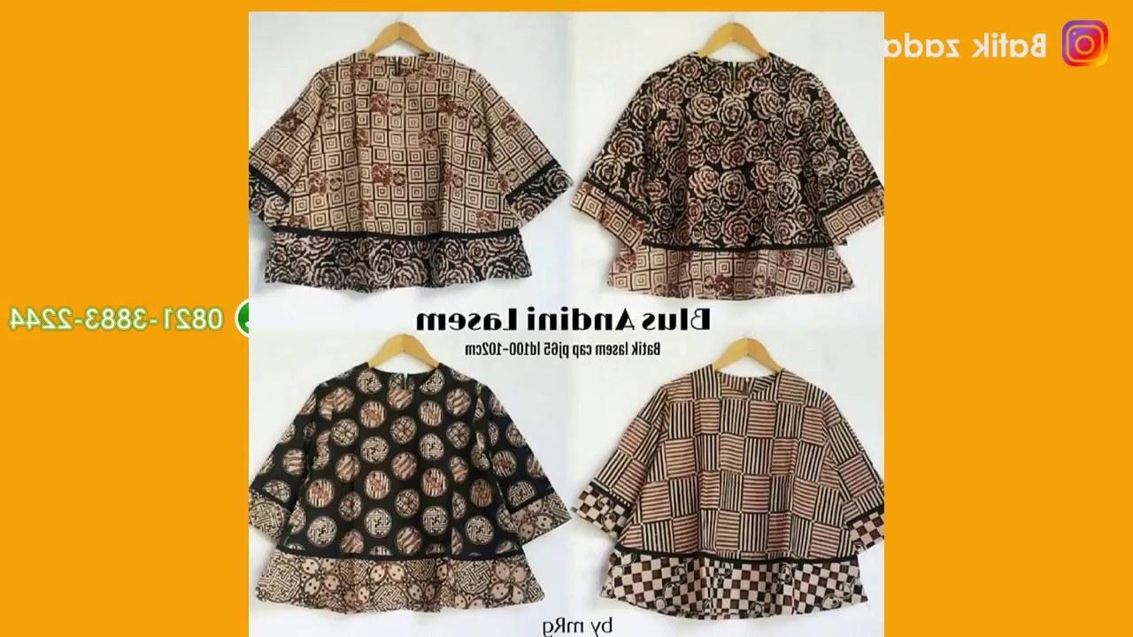 Model Baju Lebaran Wanita 2018 9fdy Model Baju Batik Wanita Terbaru Trend Batik Kerja atasan