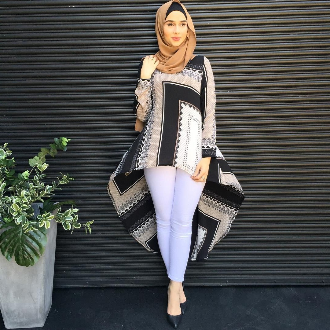 Model Fashion Muslimah Casual 9fdy Fashion Hijab Model Pakaian Hijab Pinterest