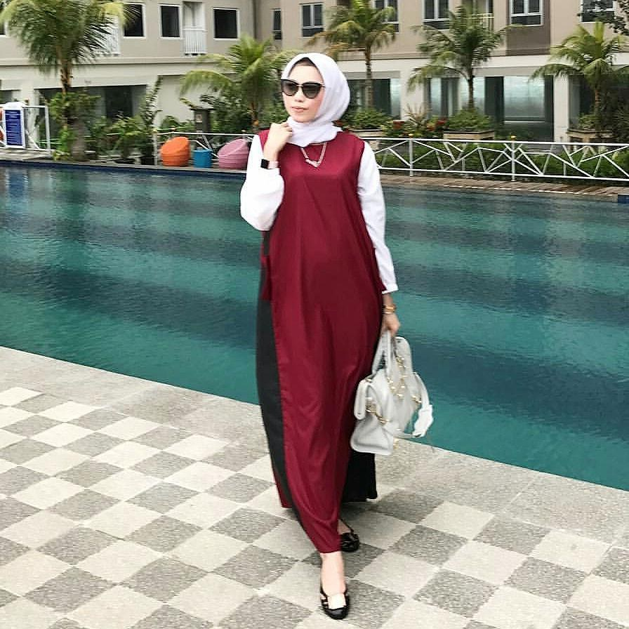 Model Fashion Muslimah Remaja H9d9 17 Koleksi Fashion Baju Hijab Remaja 2018 Gaya Masa Kini