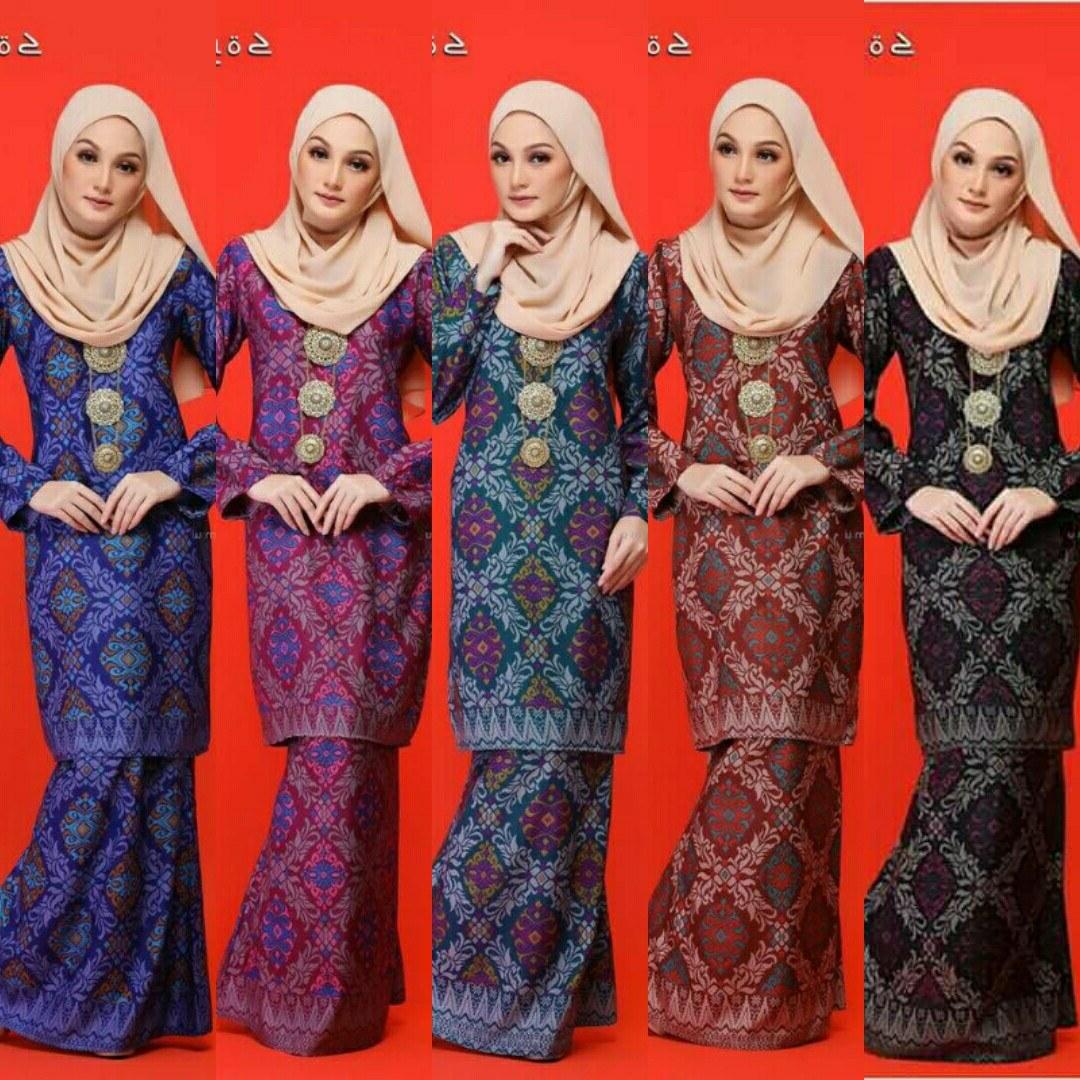 Model Fashion Muslimah Terkini 87dx songket Malinja Baju Kurung Moden Terkini Baju Kurung