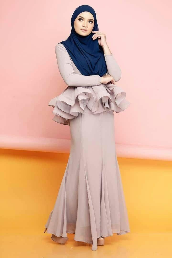 Model Fashion Muslimah Terkini Ipdd Mermaid Peplum by Cik Puan Gojes