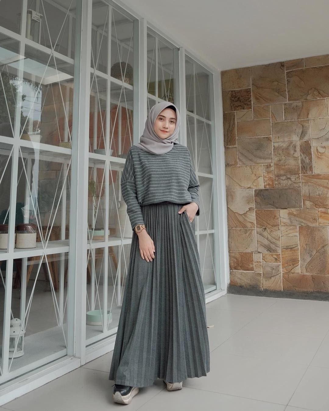 Model Gaya Baju Lebaran 2019 3id6 Baju Muslim Lebaran Terbaru 2019 Dengan Gambar