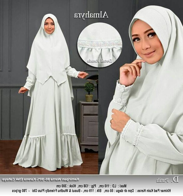 Model Harga Baju Lebaran 2018 Q5df Model Baju Lebaran Terbaru 2018 Almahyra Putih Model