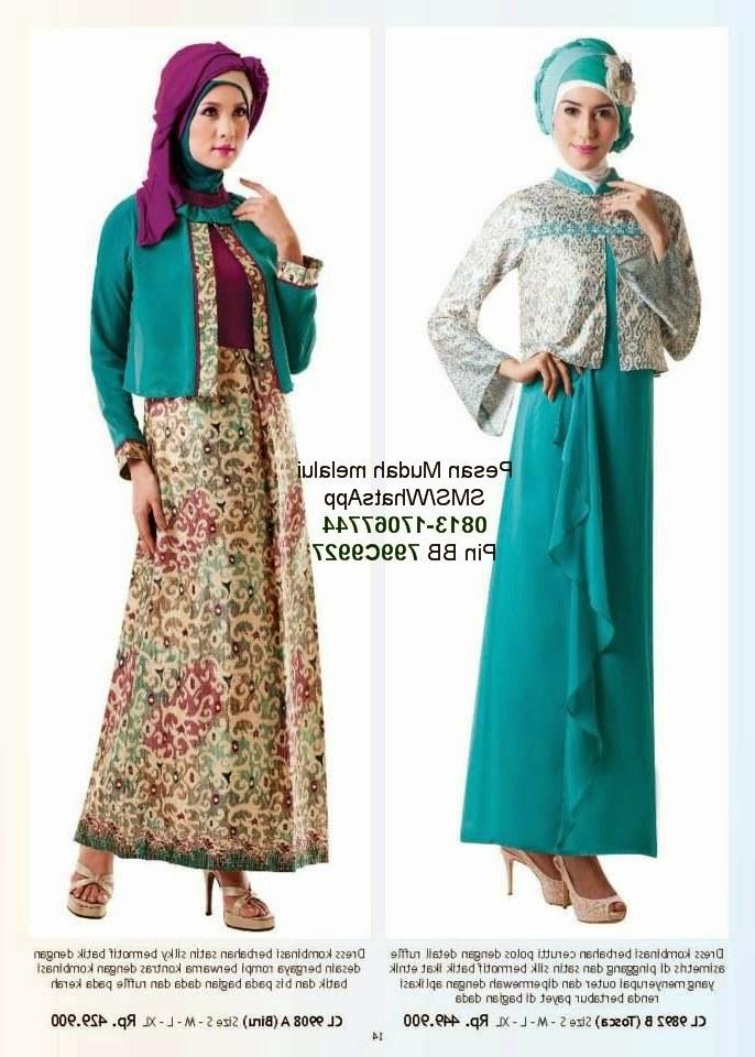 Model Macam Macam Baju Lebaran 9fdy Gaun Pesta Muslimah Calosa 2014