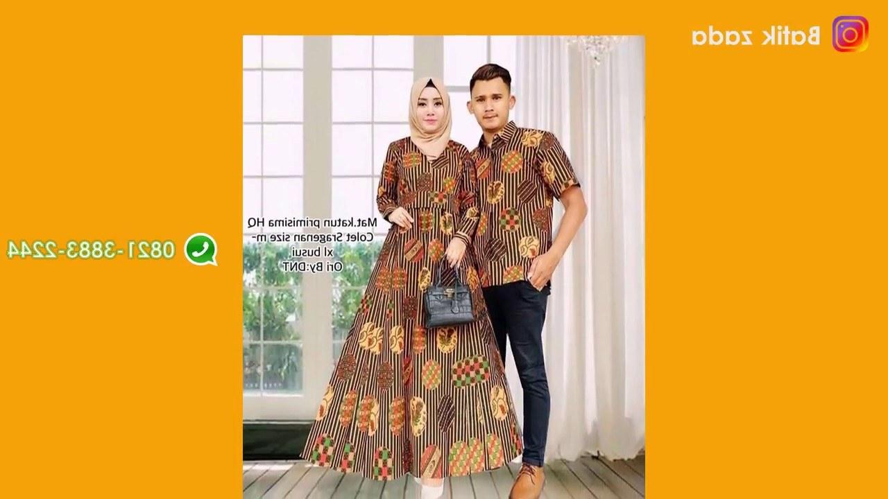 Model Model Baju Lebaran 2018 Sarimbit S1du Model Baju Batik Wanita Terbaru Trend Batik Sarimbit Hijab