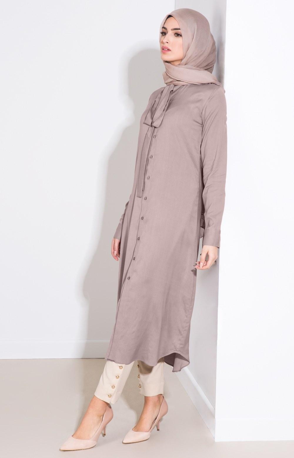 Model Model Baju Lebaran 2018 Wanita Tldn 25 Trend Model Baju Muslim Lebaran 2018 Simple & Modis