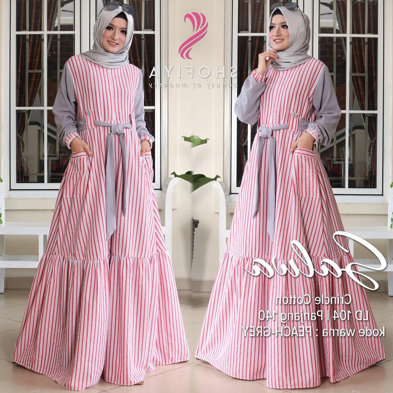 Model Model Terbaru Baju Lebaran Y7du Model Baju Gamis Terbaru Lebaran Gambar islami