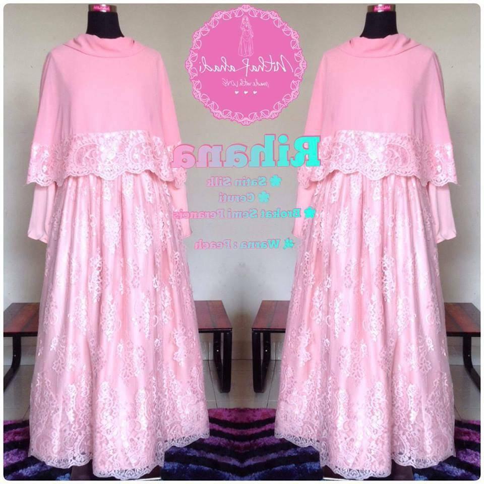 Model Motif Baju Lebaran 0gdr Baju Pesta Muslimah Rihana Dress Bisa Dicicil Untuk Baju