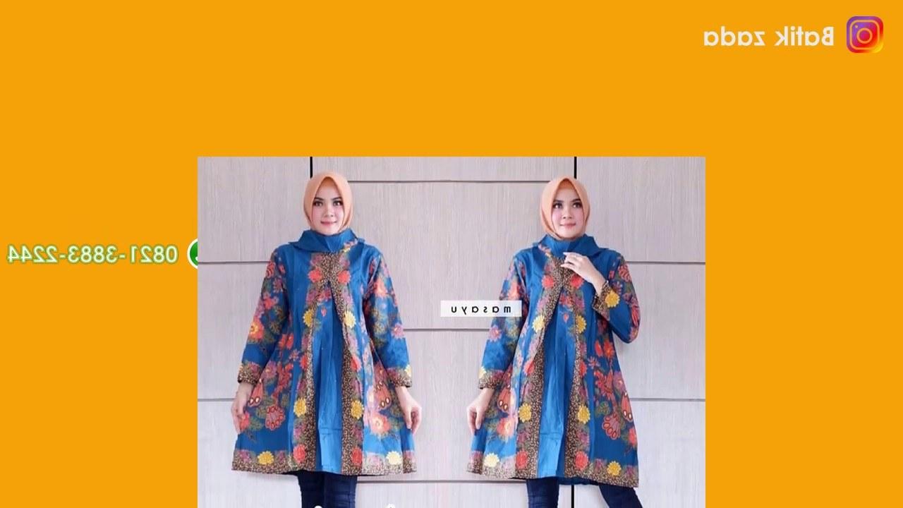 Model Motif Baju Lebaran 2019 3ldq Model Baju Batik Wanita Model Tunik Modern Trend Lebaran