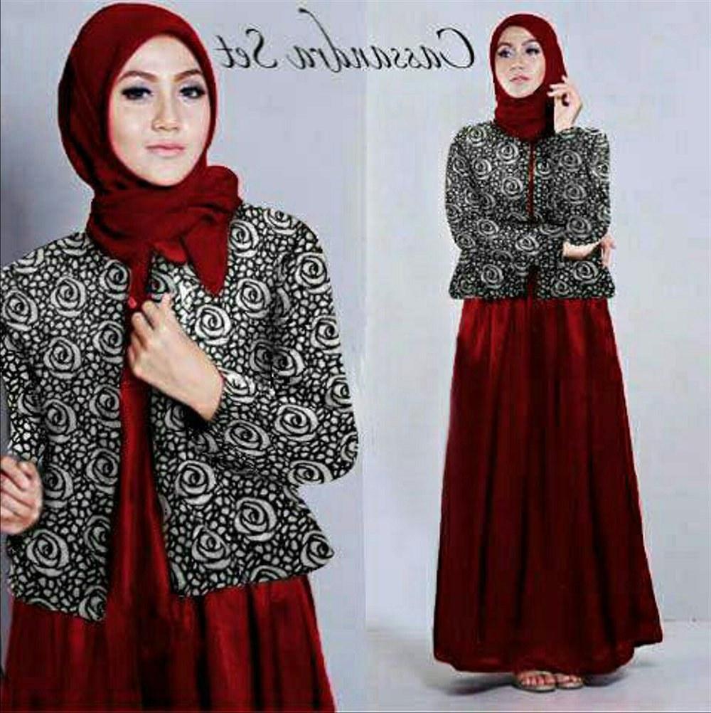 Model Motif Baju Lebaran S5d8 Jual Casandra Hijab Maroon Sett Hijab 3in1 Maxi