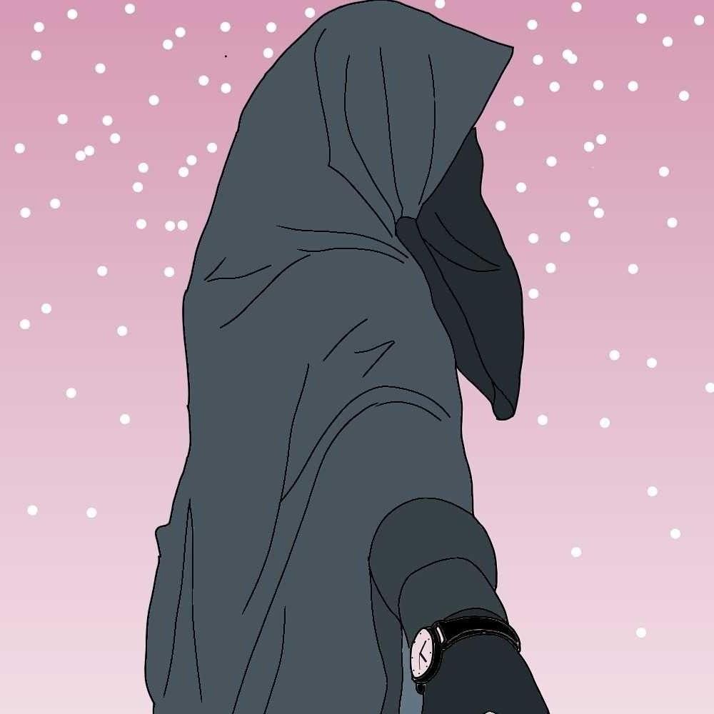Model Muslimah Bercadar Animasi 9ddf Gambar Kartun Muslimah Pink