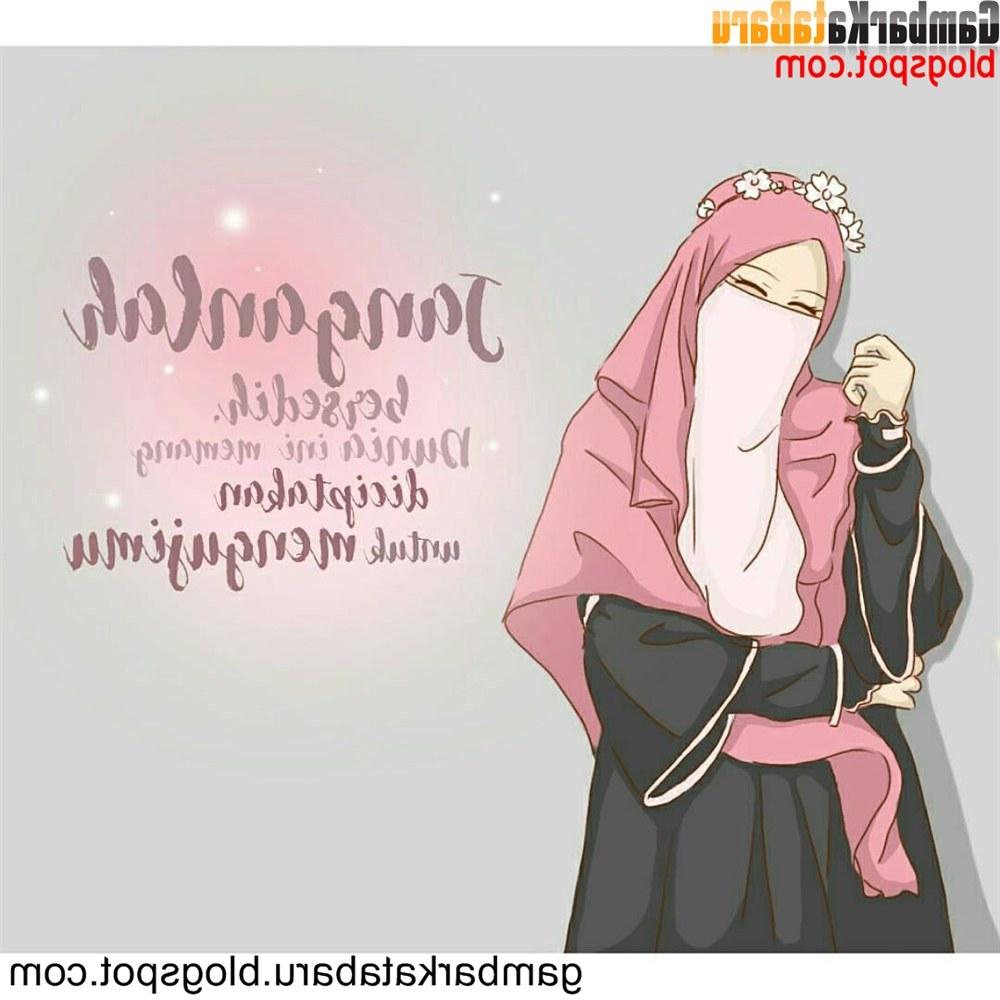 Model Muslimah Bercadar Animasi Budm Mewarnai Gambar Sketsa Wanita Muslimah Bercadar Terbaru