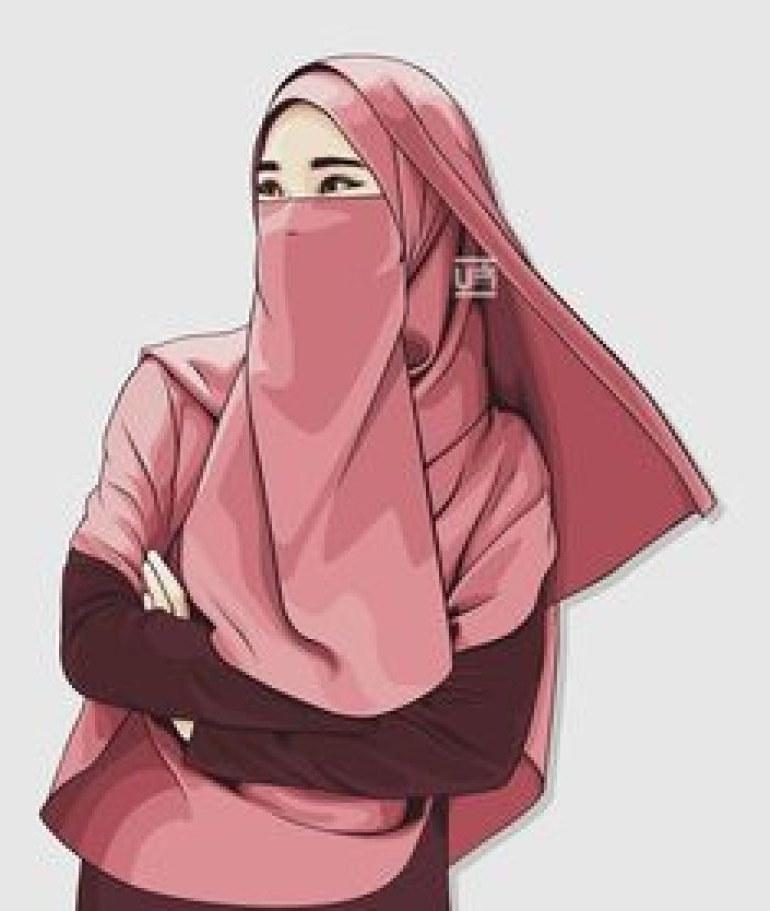 Model Muslimah Bercadar Animasi Gdd0 75 Gambar Kartun Muslimah Cantik Dan Imut Bercadar