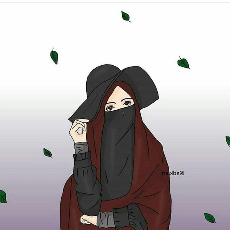 Model Muslimah Bercadar Animasi H9d9 75 Gambar Kartun Muslimah Cantik Dan Imut Bercadar