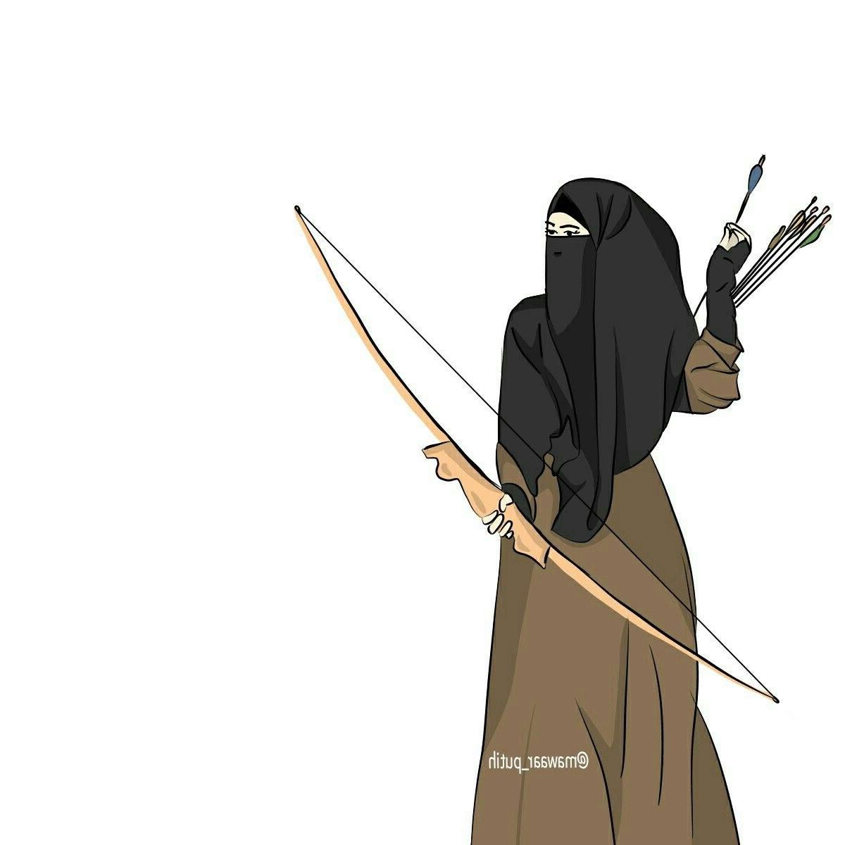 Model Muslimah Bercadar Animasi Qwdq Gambar Kartun Muslimah Memanah Koleksi Gambar Hd