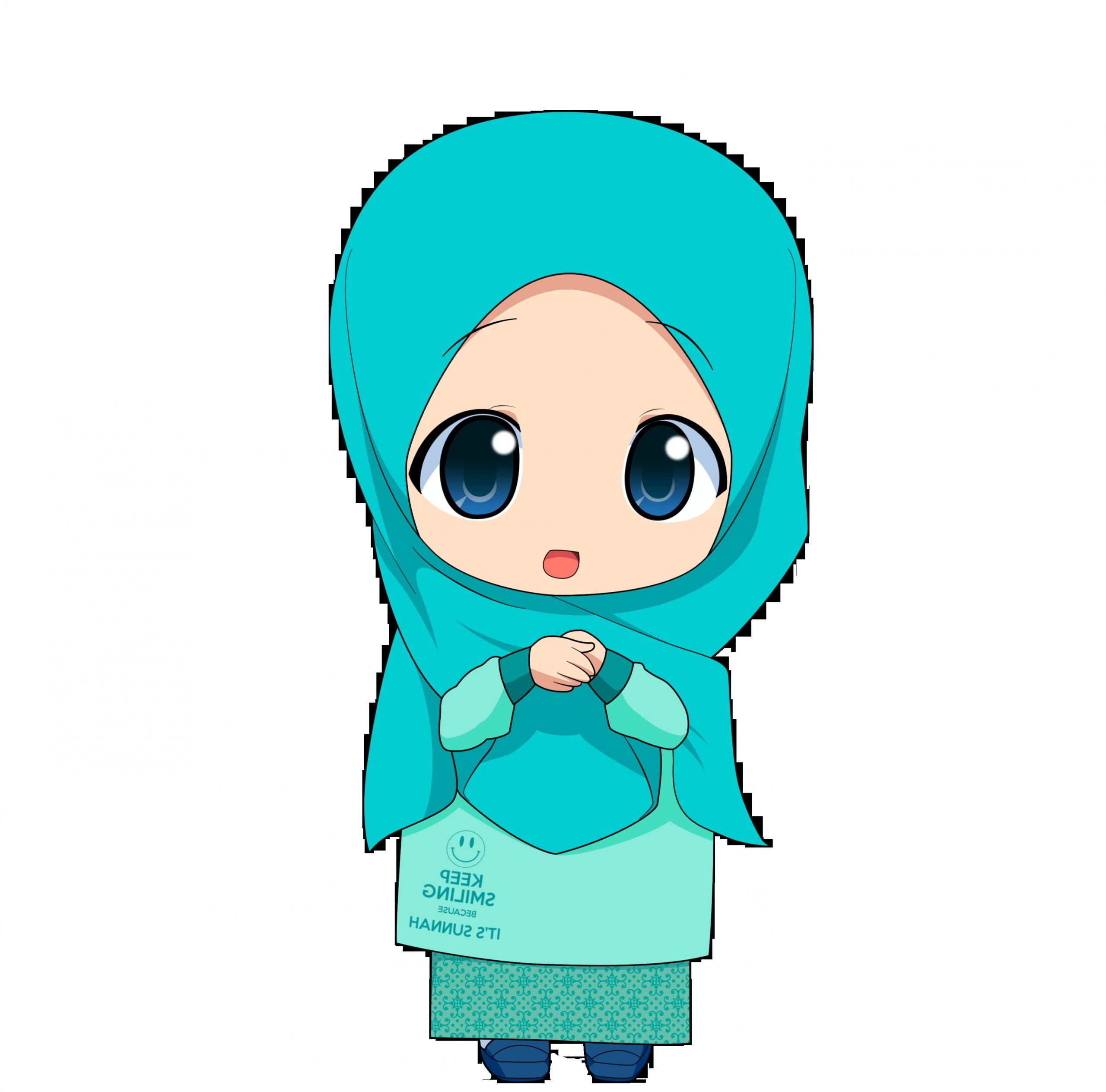 Model Muslimah Kartun Png 4pde Gambar Kartun Muslimah
