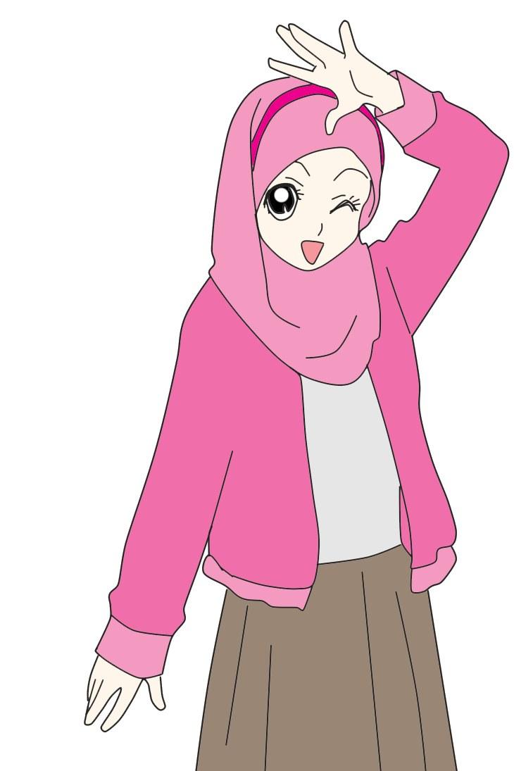 Model Muslimah Kartun Png Gdd0 Gambar Kartun Muslimah