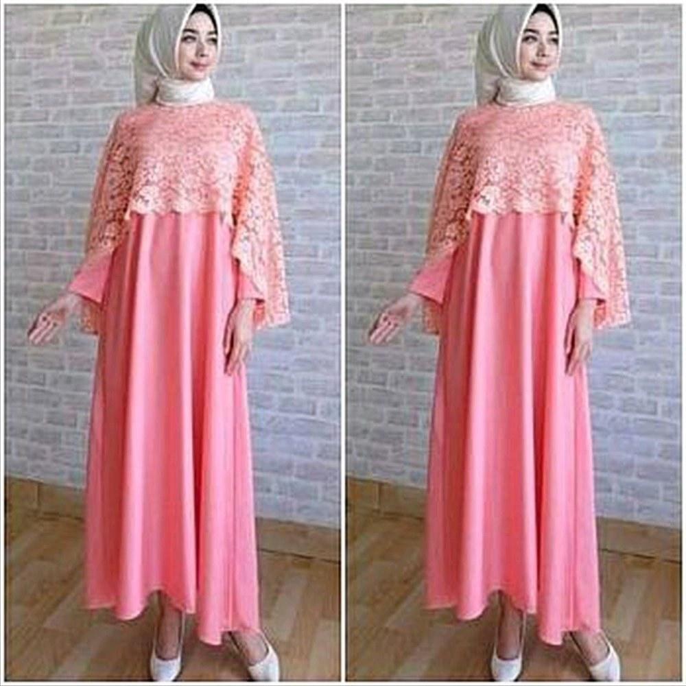 Model Promo Baju Lebaran O2d5 Jual Promo Lebaran Baju Muslim Wanita Murah iska Cape Maxy