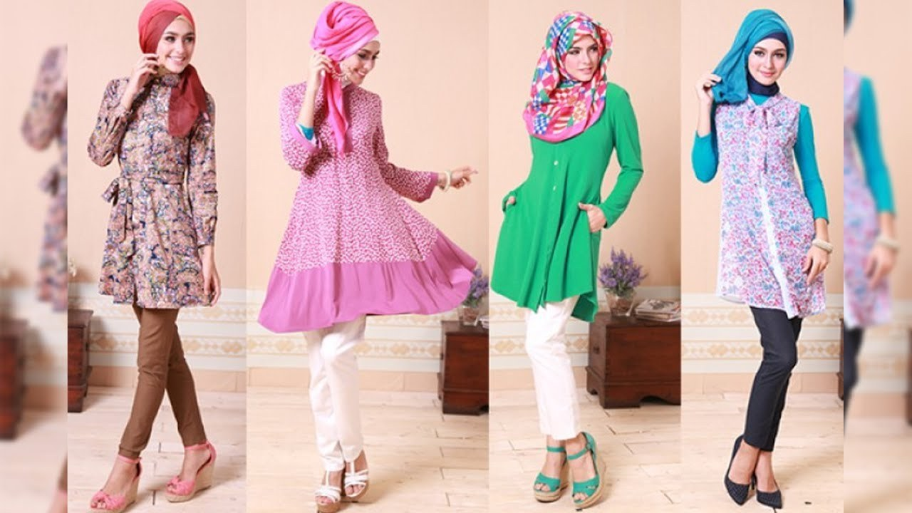 Model Referensi Baju Lebaran 2019 Whdr Trend Baju Muslim Lebaran Idul Fitri 2019